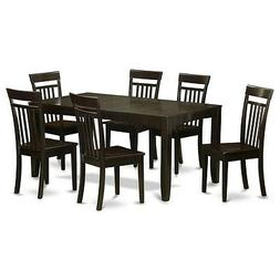 7-PC dining room table set-kitchen tables with Leaf and 6 ch