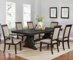 7 Piece Dining Room Table Set European Traditional Solid Woo
