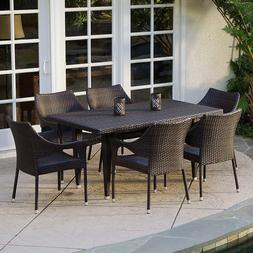7-Piece Patio Dining Set 6 Chairs 1 Table Outdoor Garden PE