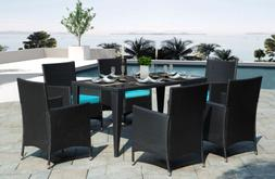 7-Piece Patio Dining Set 6 Chairs 1 Table Outdoor Garden Wro