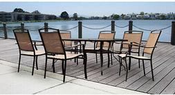 7-Piece Patio Dining Set Easy - Clean Table 6 Chairs Outdoor