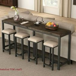 70.9''Lx11.8''Wx31.5'H Entryway Hallway Table Slim Console T