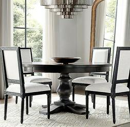 "Restoration Hardware 72"" round wood Monastery Dining Table B"