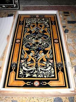 "72"" x 48"" Inlay Table Tops Marble Dining Table Top, Pietre D"
