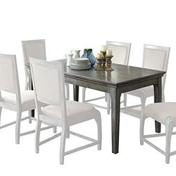 ACME Furniture 72110 Freira Dining Table, Antique Gray