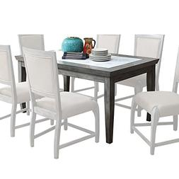 Acme Furniture 72115 Freira Real Marble Dining Table, Antiqu