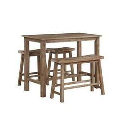 Boraam 75027 4 Piece Sonoma Pub Table Set, 36 x 47.25 x 23.7