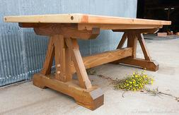 """84"""" x 40"""" x 30"""" Rustic Timber Dining Table"""
