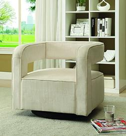 Coaster Home Furnishings 902427 Accent Chair, NULL, White Ve