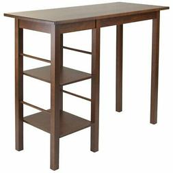 Winsome 94144 Egan Breakfast Table with 2 Side Shelves