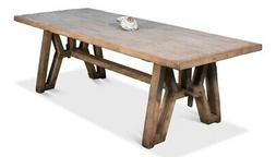 """98"""" W Adalberto Dining Table Hand Crafted Reclaimed Old Pine"""