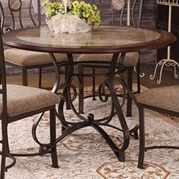 ACME Furniture Barrie Dining Table in Cherry Oak and Dark Br