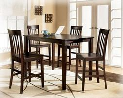 Ashley Hyland D258-223 5-Piece Dining Room Set with 1 Counte