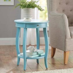 Better Homes and Gardens Round Accent Table with Drawer, Tea