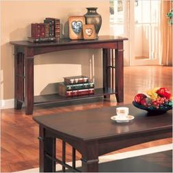 Brentwood Sofa Table with Wood Top in Cherry