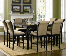 Cabrillo Counter Height Dining Set in Black Finish by Coaste