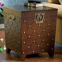 Calvert End Table in Deep Espresso Stain Finish-square,home