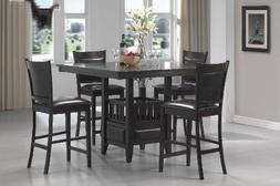 Coaster 100958 100959 Jaden 5 Pc Counter Height Table Set Ca