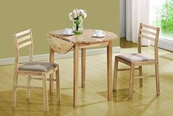 Coaster 3 Piece Dining Set Natural