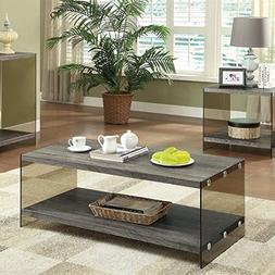 Coaster Home Furnishings Coffee Table with Glass Sides Weath