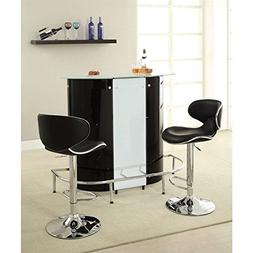 Coaster Home Furnishings Contemporary Bar Table, Black and W
