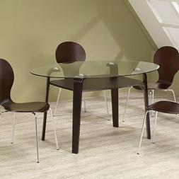 Coaster Oval Dining Table 120791 - Cappuccino Finish