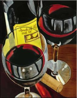Continental Art Center HD-006 11 by 14-Inch Wines Ceramic Ar