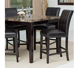 Counter Height Dining Table Set, Contemporary-style Solid Wo