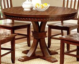 Furniture of America Castile Transitional Round Dining Table