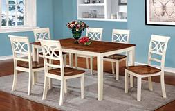 Furniture of America Cherrine 7-Piece Country Style Dining S