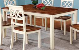 Furniture of America Cherrine Country Style Dining Table, Oa