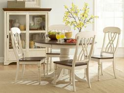 Homelegance Ohana 5 Piece Round Dining Table Set in Antique