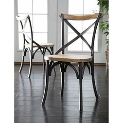 WE Furniture Industrial Reclaimed Solid Wood Dining Chairs,