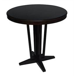 Maddox Round Counter Height Dining Table in Espresso Finish