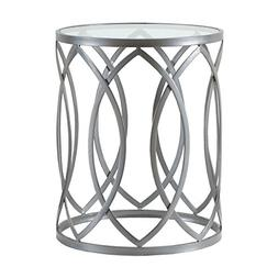 Madison Park Arlo Accent Tables - Glass, Metal Side Table -