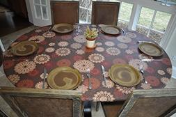 LAMINET Elastic Fitted Table Cover - MEDALLION - Large Round