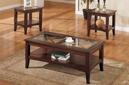 Poundex Coffee Table.Poundex 3 Piece Coffee Table Dark Cherry Dining Table