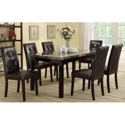 Poundex PDEX-F2093-F1078 7 Piece Casual Dining Set