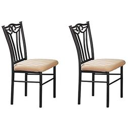 Poundex Shannon Series Dining Chair in Charcoal Iron Finish