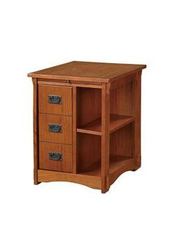 "Powell ""Mission Oak"" Magazine Cabinet Table"
