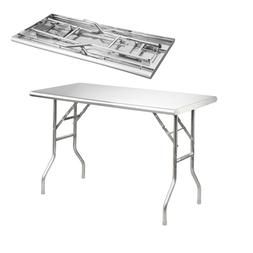 "Royal Gourmet Stainless Steel Folding Work Table, 48"" L x 24"