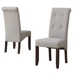 Simpli Home Cosmopolitan Deluxe Tufted Parson Dining Chair,