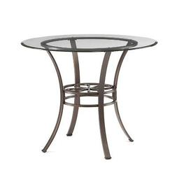 Southern Enterprises Lucianna Glass Top Dining Table, Dark B