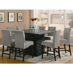 Stanton Contemporary 9pc Counter Height Dining Set Gray Micr