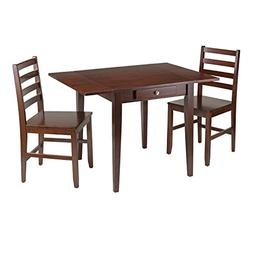 Winsome Hamilton 3-Piece Drop Leaf Dining Table with 2 Ladde
