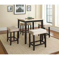 Steve Silver Aberdeen 5 Piece Counter Height Table Set W/ Fa
