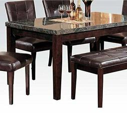ACME Danville Dining Table in Black and Walnut