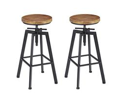 "VILAVITA 2-Set Bar Stools, 24.8"" to 30.8"" Adjustable Height"