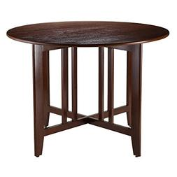 "Alamo 42"" Round Double Drop Leaf Table, Espresso"
