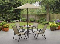 Mainstays Albany Lane 6 Piece Outdoor Patio Dining Set,ñ